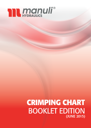 Tabela parametrów zakuć dla węży Manuli - broszura (EN)